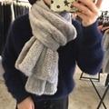 Норки Шарф Для Женщин в зимний Горячей продажи Реального Норки меховой Шарф Женщин Трикотажные Природный Норки Шарфы Моде Вязаные Шали