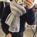 Bufanda de Piel de visón Para Las Mujeres en venta Caliente del invierno de Visón Real Bufanda de La piel de Las Mujeres Naturales de Punto piel de Visón Bufandas Chal De Punto De Moda