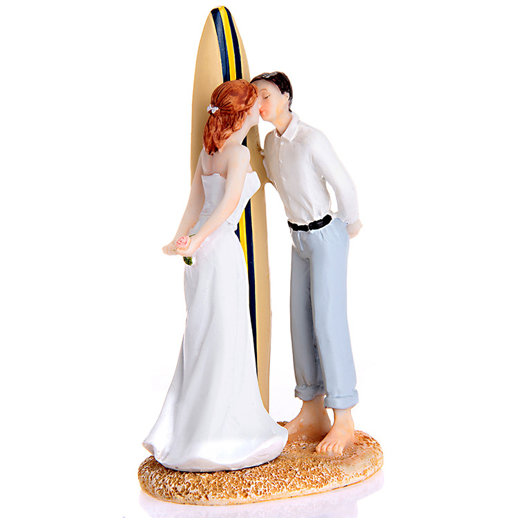 Summer Beach Wedding Theme Of Sailboat Kiss Bride And Groom Cake Topper Figurines With Free Shipping In Decorating Supplies From
