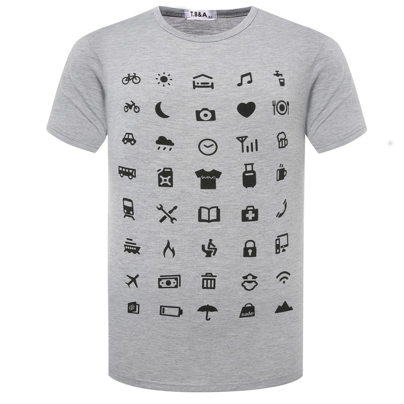 Useful Icon Food Clothing Shlter Expenditure Travel The Traveler   T     Shirt   Tops Tees Icon Speak Super IconSpeak   Shirts   TX92