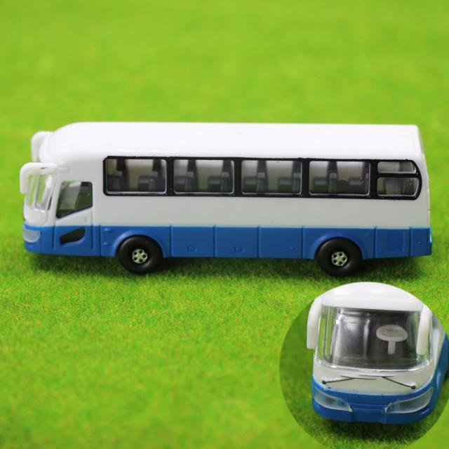 2pcs Model Cars Buses 1:100 TT HO Scale Railway Layout Plastic NEW Free Shipping  BS10001  railway modeling 3
