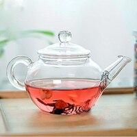 Bule de vidro transparente resistente ao calor bule com infusor chinês café flor chá folha ervas pote 250ml chaleira durável presente