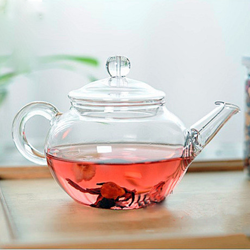 Transparent Teapot Heat Resistant Glass Teapot With Chinese Infuser Coffee Flower Tea Leaf Herbal Pot 250ml Durable Kettle Gift|teapot with infuser|teapot glass|teapot glass infuser - title=