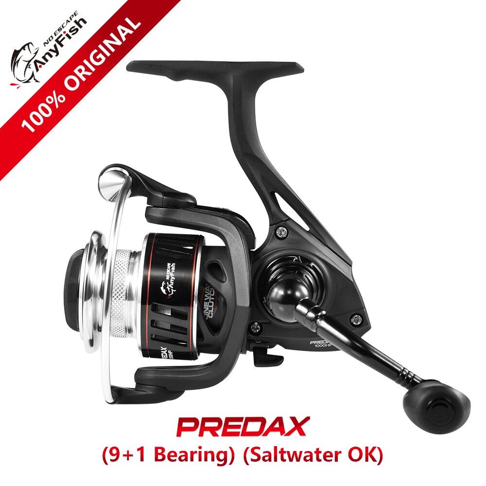 100% original Anyfish PREDAX Spinning Fishing Reel 1000/2000/3000/4000 model Gear Ratio 5.2:1 9+1 ball bearings Max drag 6kg/8kg