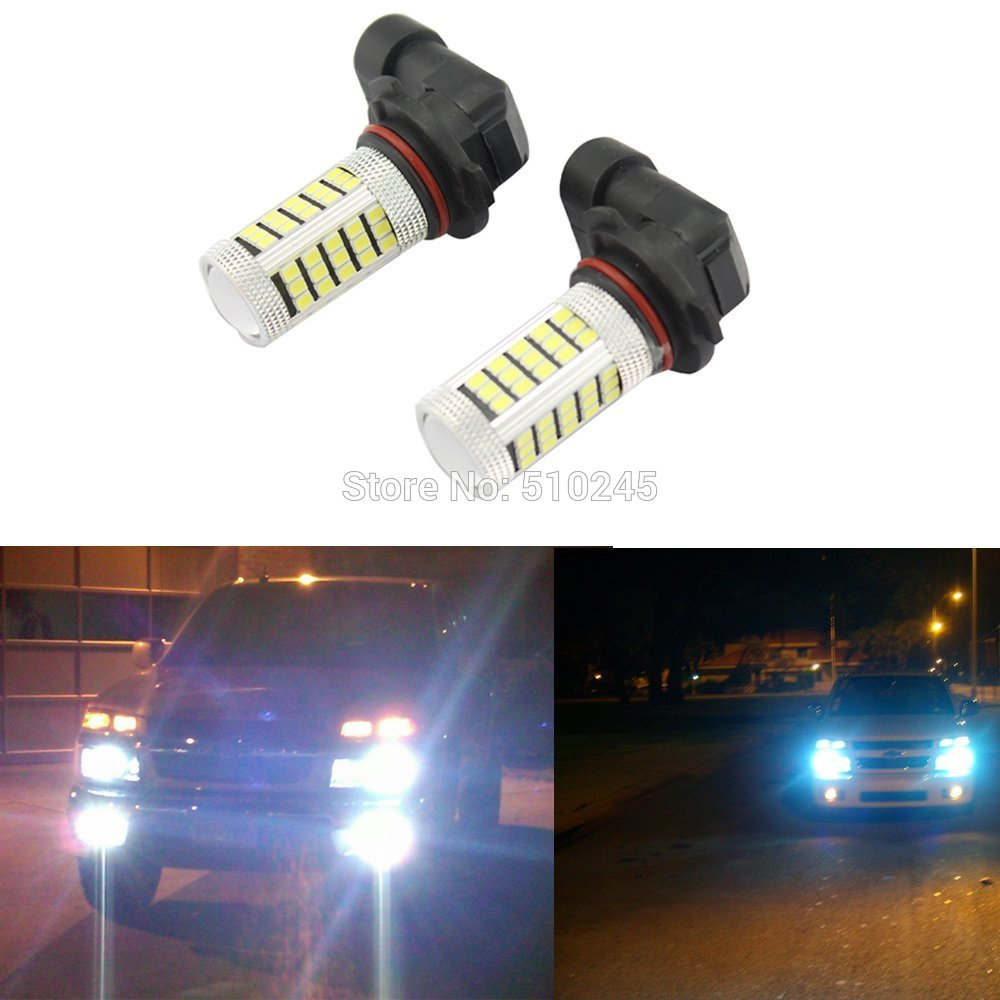 10x Car led fog lamp H4 H7 H8 H11 9005 9006 HB3 HB4 63 leds smd 2835 63smd led light bulb lamp WHITE Free shipping