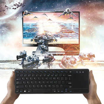 2.4G Wireless Keyboard Wireless Multi-touch Touchpad Not Bluetooth Mini Keyboards with USB Receiver for Android Smart TV Laptops