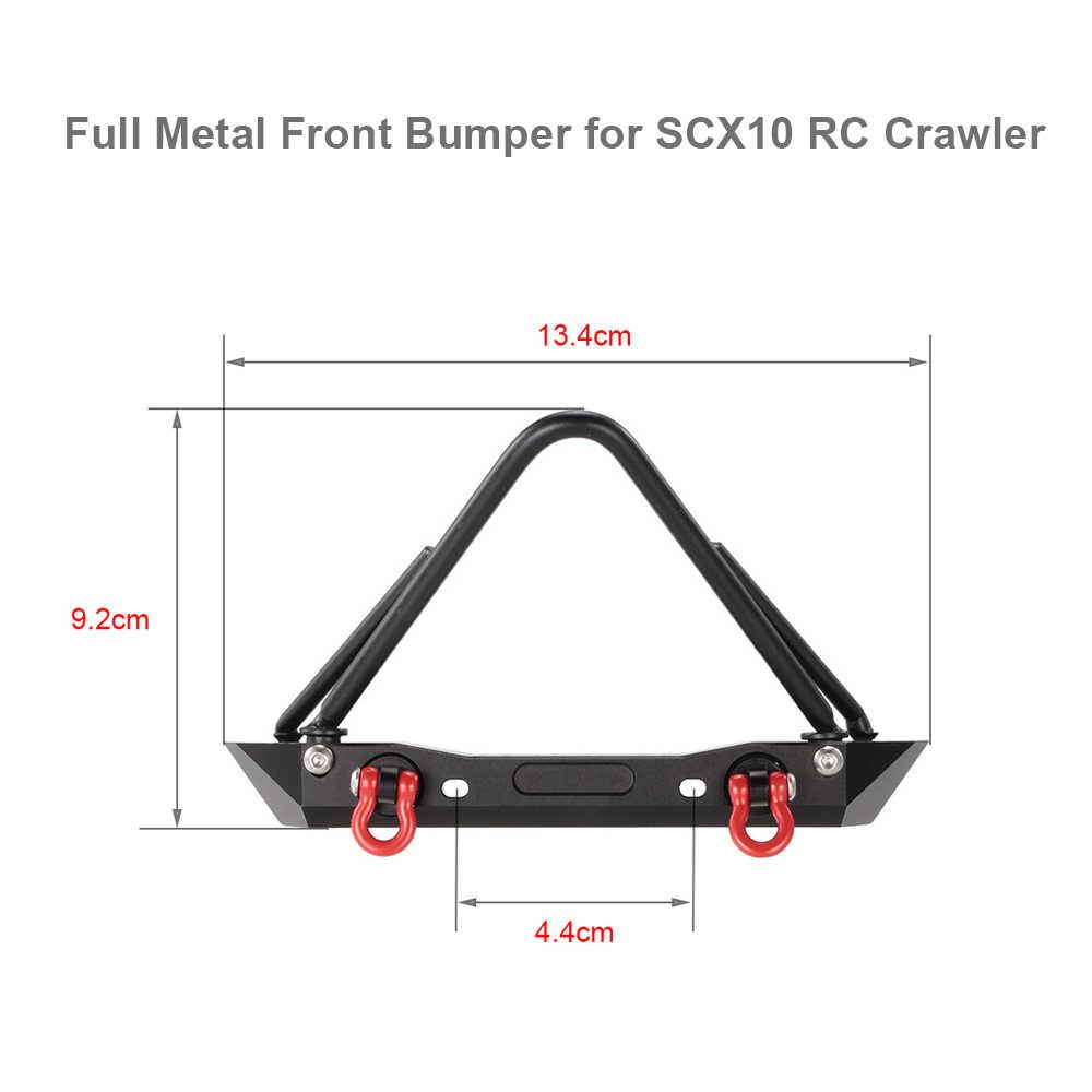 Металла передний бампер Bull БАР с Крепление для лебедки сиденье для 1/10 осевой SCX10 RC Рок Гусеничный