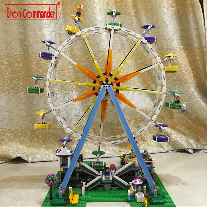 Lepin 2478Pcs City Creator Expert Ferris Wheel Model Building Kits Blocks Bricks Toys Compatible legoing 10247 gift for kids lepin city creator 3 in 1 beachside vacation building blocks bricks kids model toys for children compatible with lego gift kid