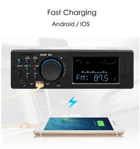 Image 5 - SWM M2 Car Stereo MP3 Music Player FM Music Radio Bluetooth 4.0 TF AUX Dual USB Charging Car charger for iOS/ Android Head Unit