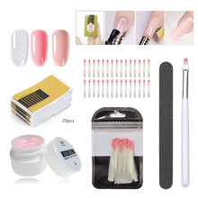 Beateal Nail Extension Builder Gel 3 colors Poly  Fiberglass For Finger UV Forms for