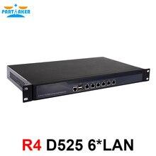 Причастником R4 1u брандмауэр стойки уши брандмауэр аппаратное обеспечение с D525 процессор 6 Ethenet портов 4 Гб Ram 32 Гб SSD