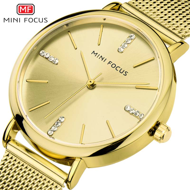 Lujo MINI FOCUS Ladies Ladies Relojes Rose Gold Women Relojes - Relojes para mujeres
