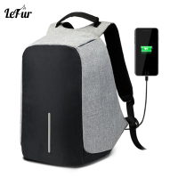 LEFUR Women Laptop Backpack USB Charging Men Anti Theft Waterproof Travel Backpacks For Fashion Girls Female