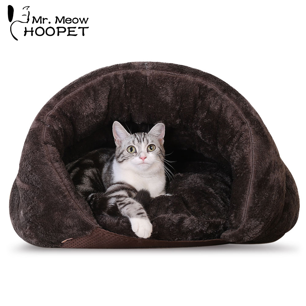 Hoopet Pet Hund Kat Bed Warm Soft Sleeping Bag Killing House Sack Bed - Pet produkter - Foto 2