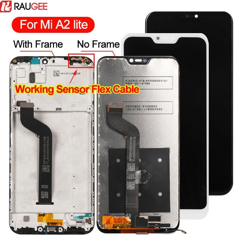 Para Xiaomi mi a2 Lite LCD + tacto pantalla Nuevo Panel de vidrio digitalizador reemplazo de pantalla de LCD para Xiaomi mi a2 Lite pantalla lcd