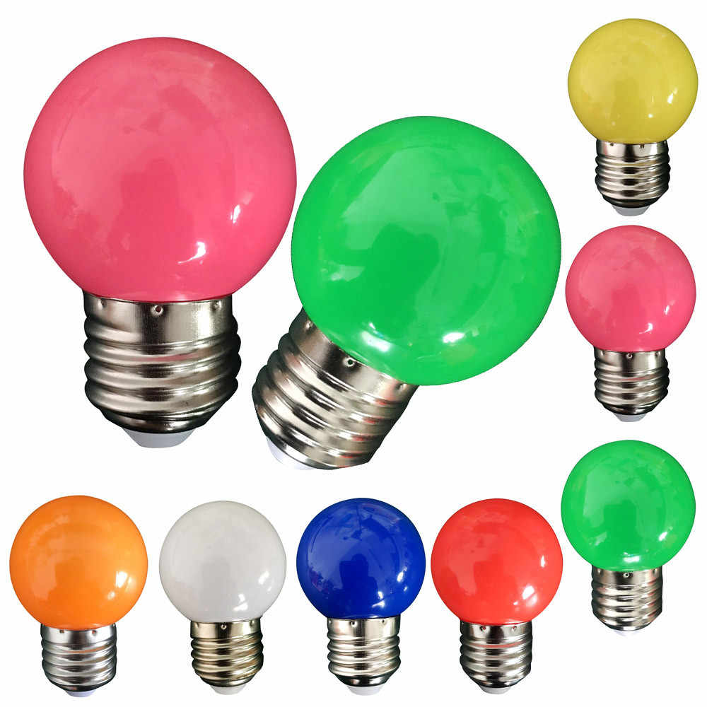 Newest Colorful E27 110V 220V Red blue green white yellow rgb blubs Energy Saving LED Golf Ball Light Bulb Globe Lamp#15