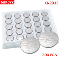 200 adet/grup, CR2032 3 V Düğme Pil Düğme Pil, para Pil, cr 2032 lityum pil Için Saatler, saatler, hesap makineleri