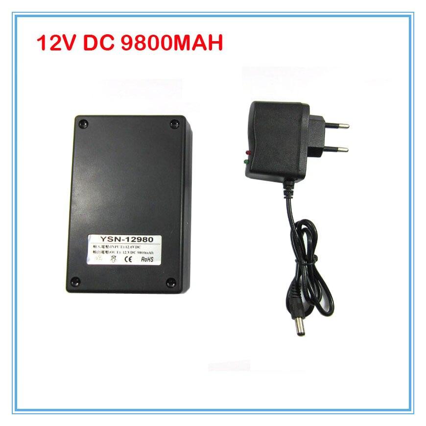 Nouveau Portable 10 pcs/lot 12 V li-ion batterie Batteries DC 12 V 9800 MAH puissant batterie Rechargeable pour caméra CCTV livraison gratuite