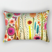 Creative design  many kinds beautiful flowers pretty floral pattern men women rectangle pillow case home cover