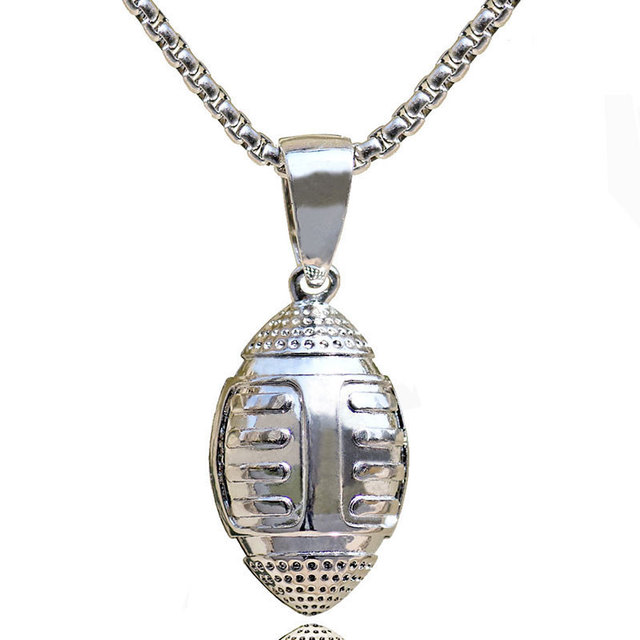 3D American Football Necklace