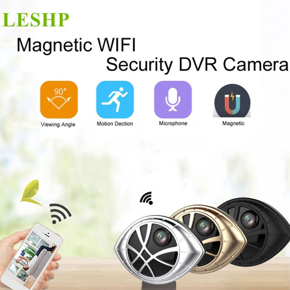 Mini Wireless Camera Eye Shape Monitoring Camera Wifi Connection Video Recorder Micro Camcorder Support Playback and Download