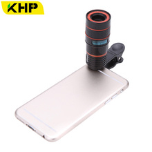 KHP 8x Telephoto Fixed Lens Universal Mobile Phone Lenses for iPhone 4 4S 5 5S 6 6S Samsung Xiaomi Huawei HTC Sony