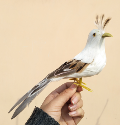 props,gift feathers a2379 22cm furnishings about model bird decoration,home gray&white toy,handicraft,garden