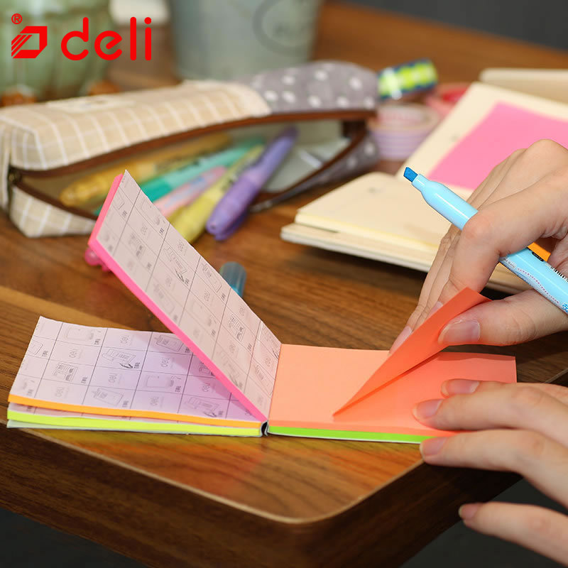 Deli flip stickers memo paper stationery student 150 pages pad sticky instant stickers label posted school & office supplies deli heavy duty hole punch office school supplies stationery 0150