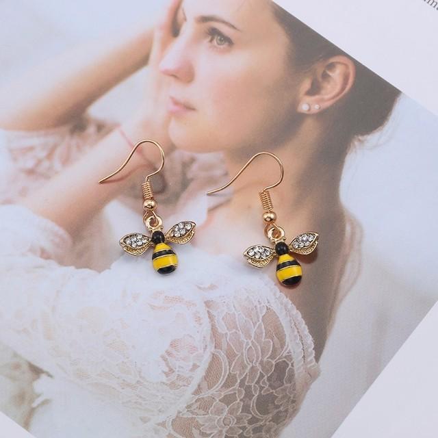 Cute Bee Patterned Earrings