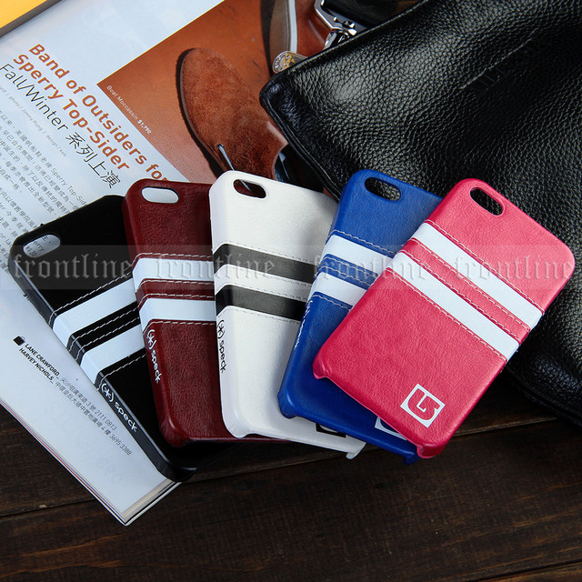 Sports Casual Style Striped Leather Case For Apple IPhone 5 5S 5G Back Covers Skins Decent Classic Ultra Slim Girls Men Stylish