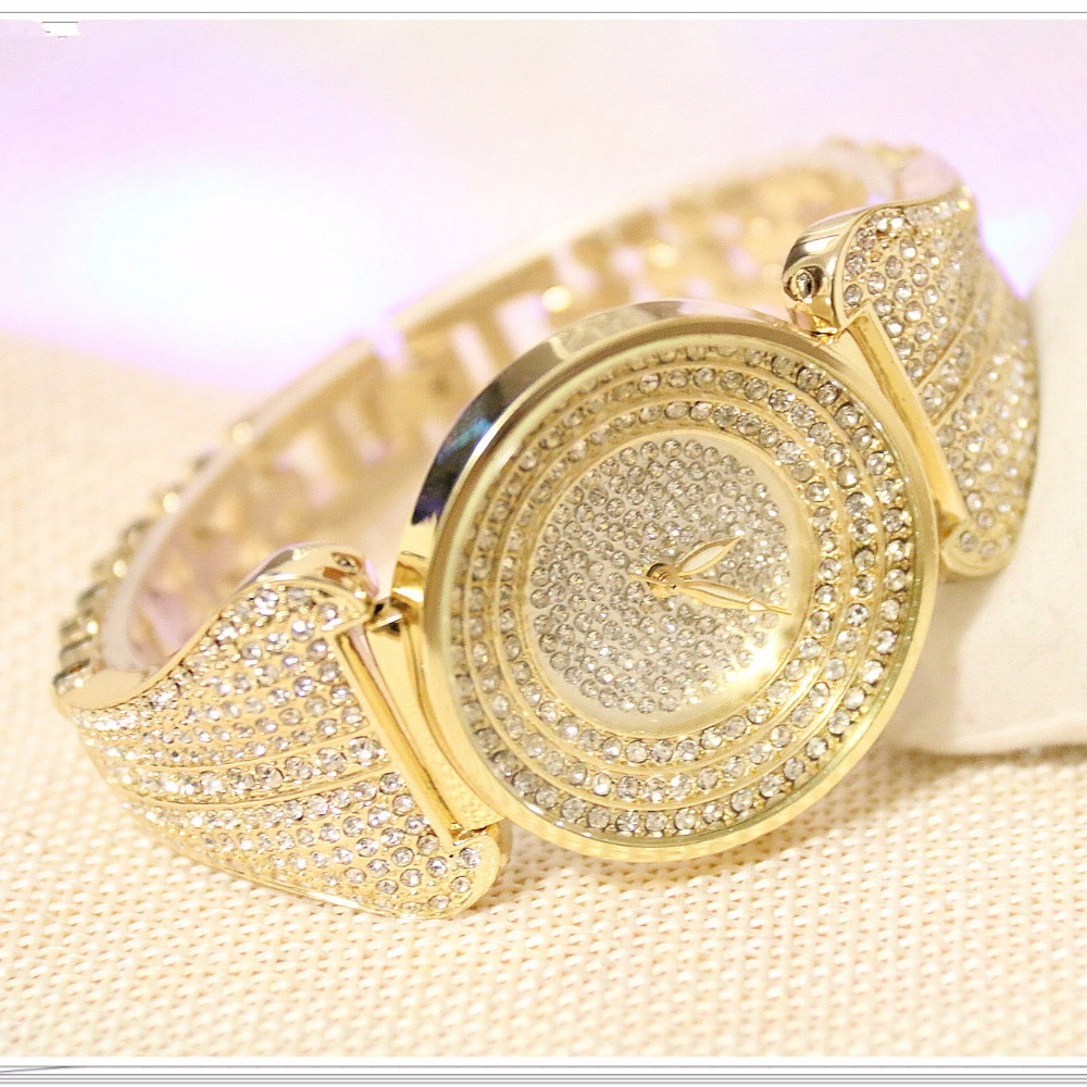 2016 Arrival BS Brand Full Diomand Custom Watch Women Luxury Austrian Crystals Watch Lady Rhinestone Watch Charm Bangle Bracelet new arrival grace bs brand full diamond luxury bracelet watch hot sale women 14k austrian crystals watch lady rhinestone bangle