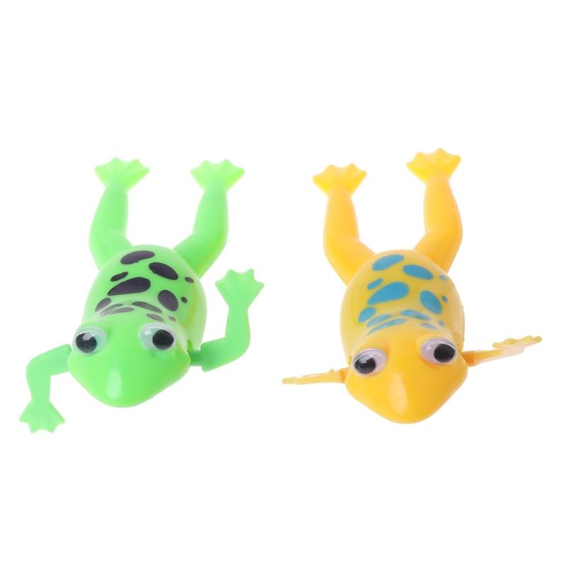 Wind-up Frog Swimming Pool Bath Time Animal Clockwork Floating Kid Baby ToyUUZY