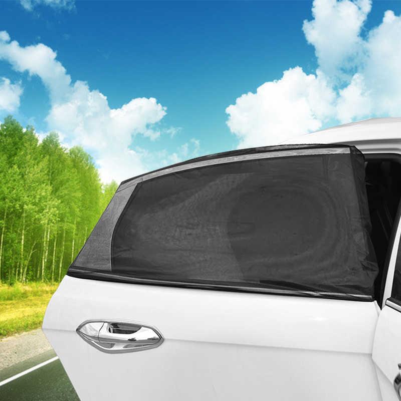 4f131eb9083c ... 2x Car Side Window Sock Sunshade Visor Mosquito Net For Baby Kid Pet  Breathable Sun Shade ...