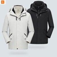 2 цвета Origianl Xiao Youpin ULEEMARK пальто три в одном длинная дорожная куртка для мужчин зимняя одежда