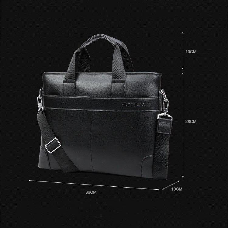 Topdudes.com - Business Casual Pu Leather Retro Briefcase