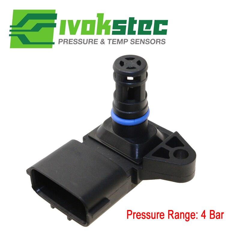 5WK96841 2045431 4Bar (4 Bar) vielfältigen Aufnahme Luftdruck MAP sensor Für Renault Peugeot 405 Kia Pride Hyundai Citroen