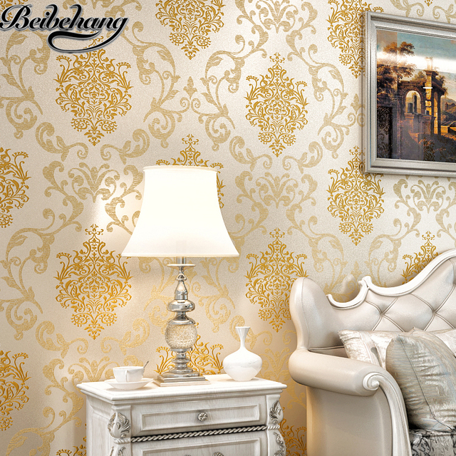 Beibehang European Non Woven Wallpaper Wall Living Room TV Backdrop  Embossed Three Dimensional Sprinkle
