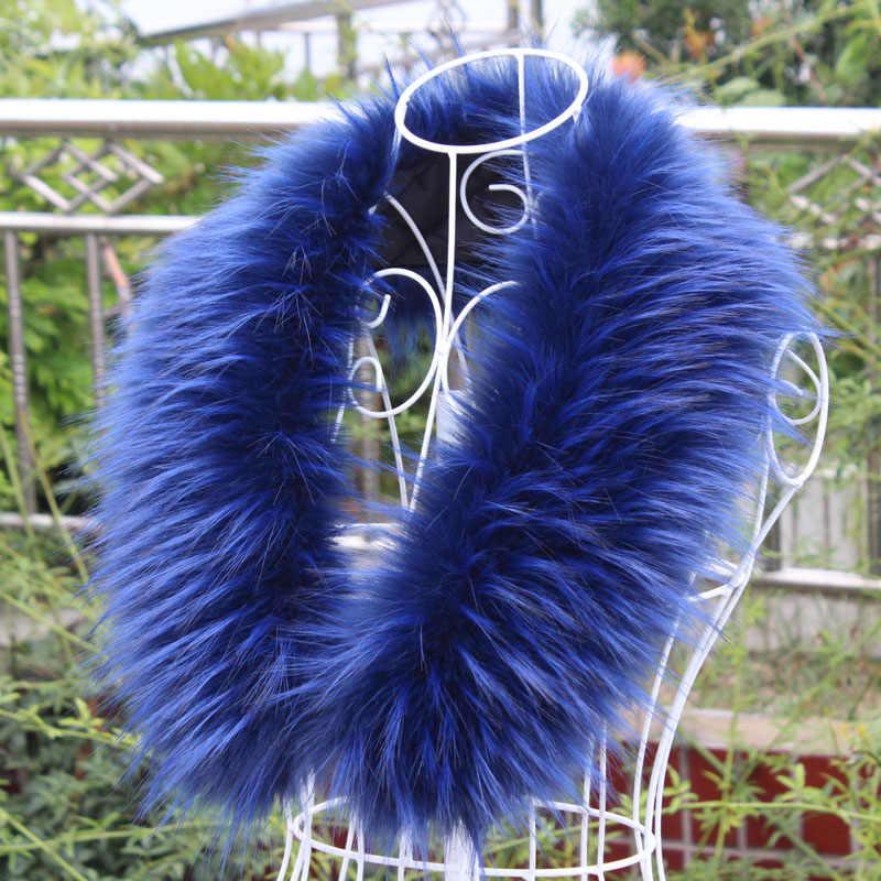 Faux fox kürk yaka taklit sahte kürk yaka kadın erkek ceket hood DIY özelleştirilmiş kürk eşarp cosplay kürk dekor