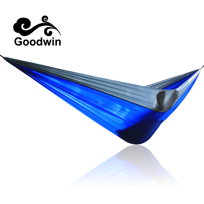 Portable Nylon Parachute Double Hammock Garden Outdoor Camping Travel Furniture Survival Hammock Swing Sleeping Bed For 2 Person sgodde assorted color hanging sleeping bed parachute nylon fabric outdoor camping hammocks double person portable hammock
