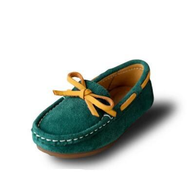 Nova primavera/outono crianças casuais apartamentos mocassins de couro genuíno shoes slip-on de couro do bebê das meninas dos meninos do esporte shoes crianças 02