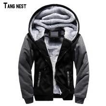 TANGNEST Autumn Winter Male Jacket Moleton Velvet Hoodie Casual Men Tracksuit Coat Warm Soft Mens Winter Jackets M-5XL MWW1326