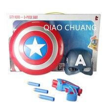 Мстители: эра Альтрона Капитан Америка щит оружие с светодиодный свет Стив Роджерс детей Косплэй фигурку модель игрушки l1416