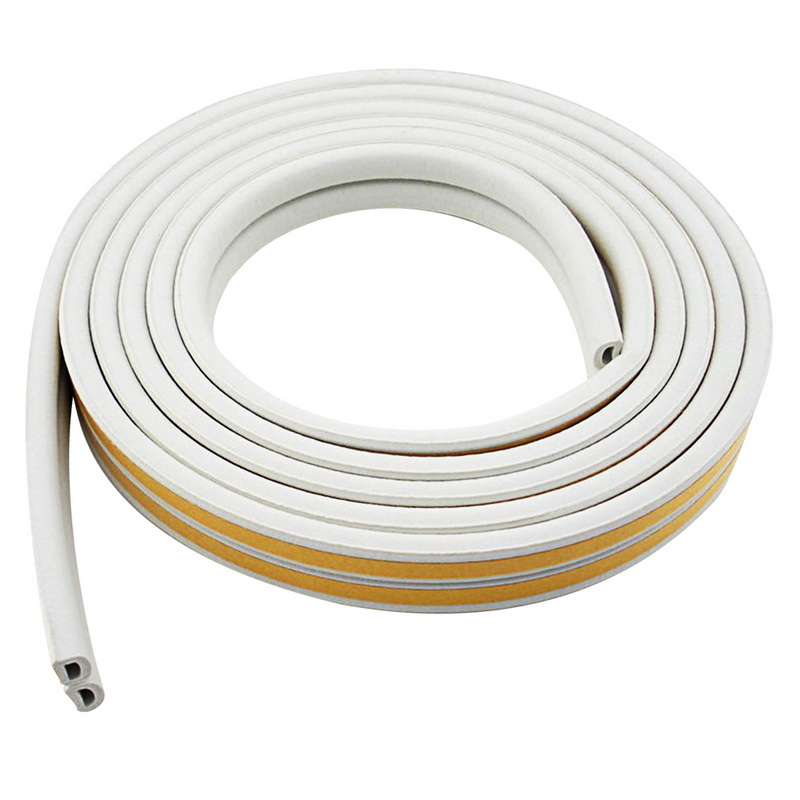 5M D Type Sealing Strip Noise Insulation Weather Strip Self Adhesive Foam Draught Excluder Window Wall Seal Strip Hardware Tools