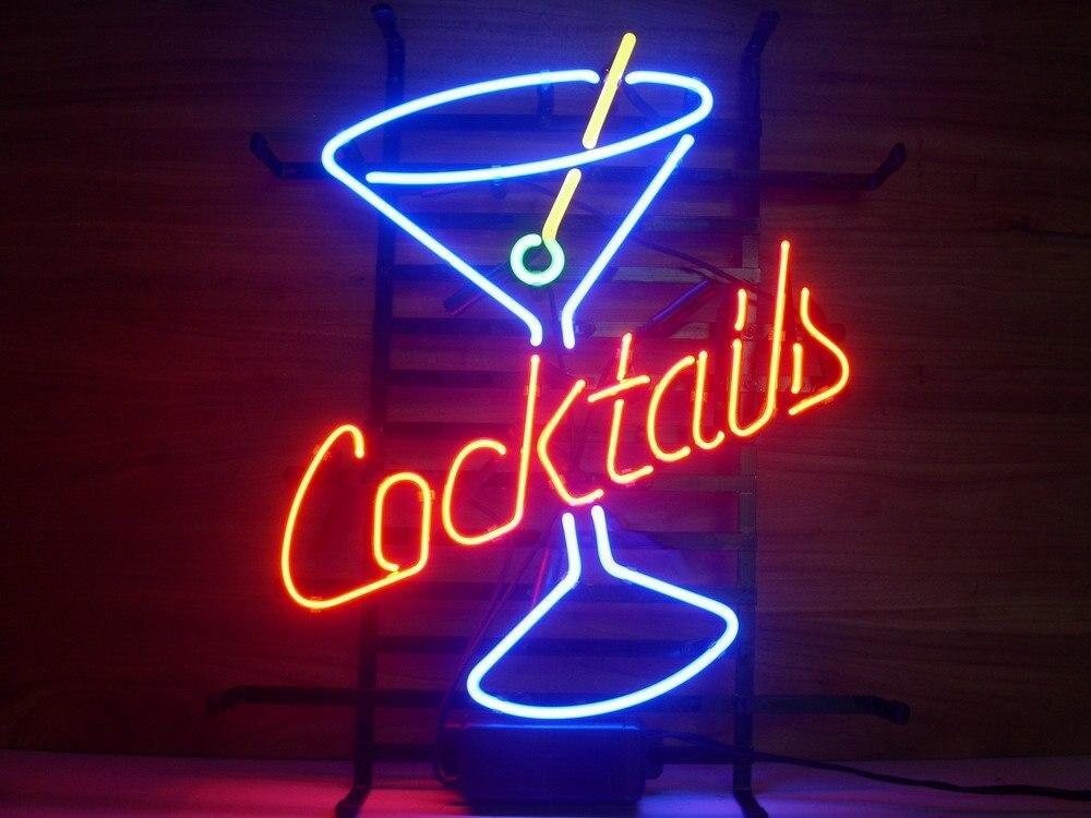 Cocktails Verre néon Signe Bière Bar