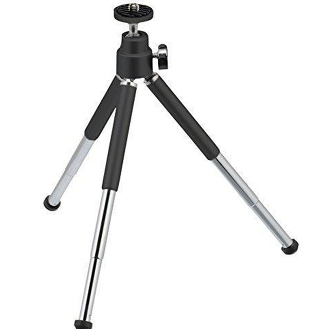 Free shipping 1pcs black Mini Tripod Aluminum Metal Lightweight Tripod Stand Mount For Digital Camera Webcam Phone DV Tripod
