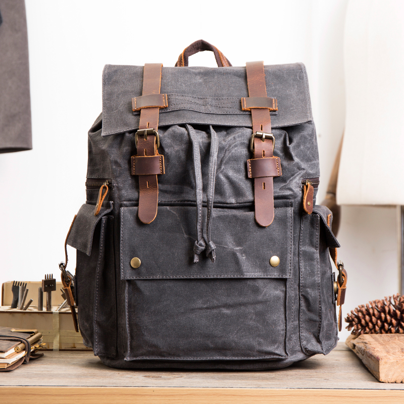 Vintage Canvas Backpack Men Large Capacity waterproof Travel Shoulder Bag 2018 Fashion Male Luxury Brand Men Laptop Bag Luggage brand stylish travel backpack for men canvas luggage bag casual large capacity shoulder laptop backpacks teenagers travel bag