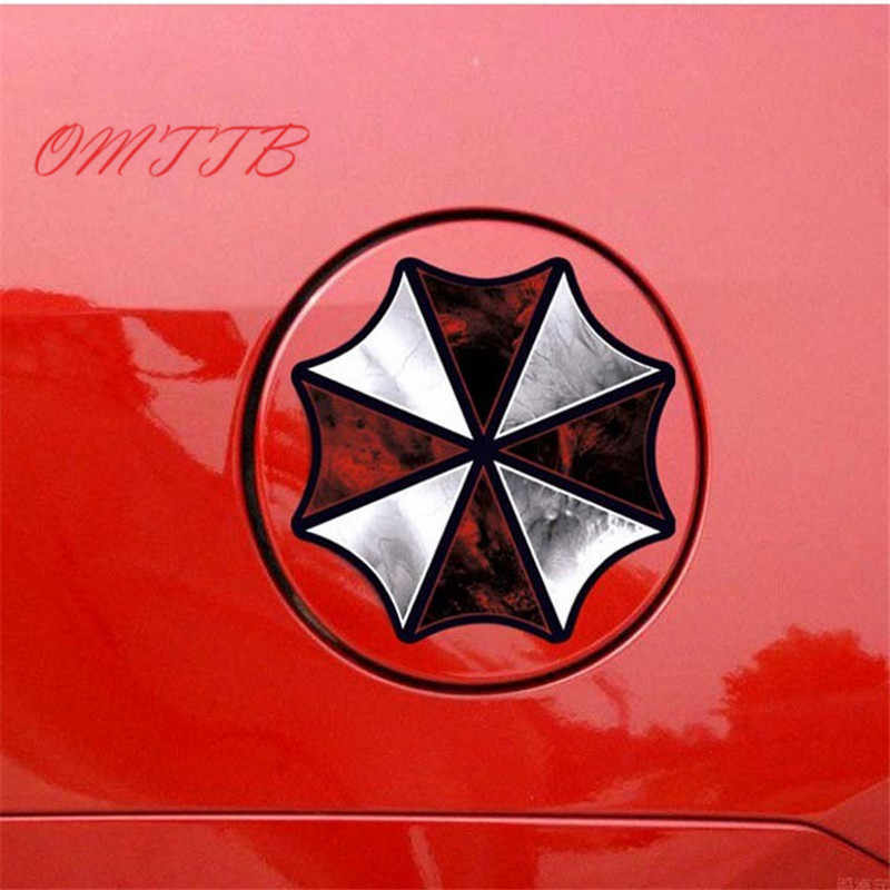 Paraguas de la Corporación de la etiqueta engomada del pegamento de la historieta del coche cubre el reflexivo impermeable en el estilo del coche del tanque de combustible para el coche