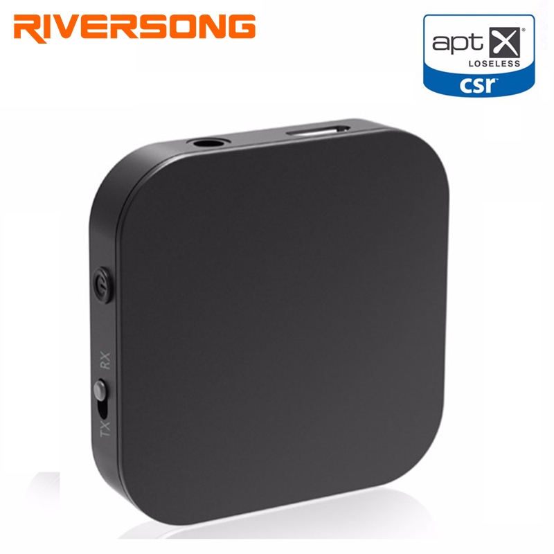 RIVERSONG Bluetooth Receiver Bluetooth Transmitter Portable Wireless Music Audio Adapter Aptx Low Latency Home Stereo System TV