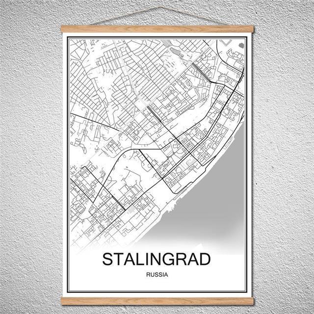 Customized Pattern STALINGRAD Modern World City map Abstract print ...