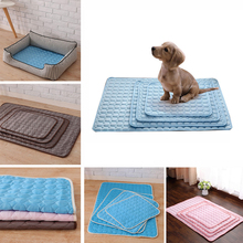 Dog Cat Cooling Mat Pad Pet Self Cooling Multi-Funtional Mat Mattress Heat Relief Pet Mat Solid Mattress for Pet Sofa Cover amy k585 pet heat cooling pad for dog cat blue yellow size l